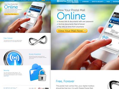 Zumbox Homepage branding corporate website product design