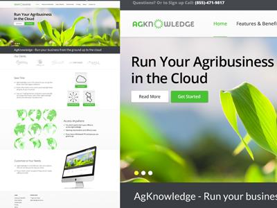 AgKnowledge Corporate Website website redesign html 5 jquery branding responsive design