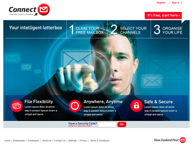 New Zealand Post ux design ui design product design