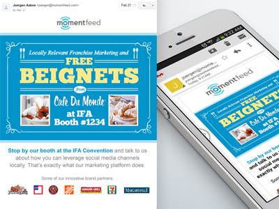Momentfeed email campaign responsive email typography