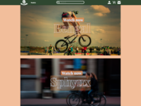 RoarBike website art icon vector animation web app design ux