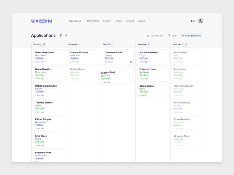 Applicant Tracking System for UXDN