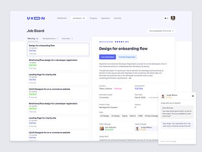 Job Board for UXDN projects crm design desktop platform design design network network platform design agency figma ux product designs product design uxdn jobsite jobs job board