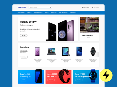 Home page for Samsung India design product design homepage design home screen home page homepage home main page shopping app shopping shopify shop ecommerce design ecommerce shop ecommerce app ecommence ecommerce samsung