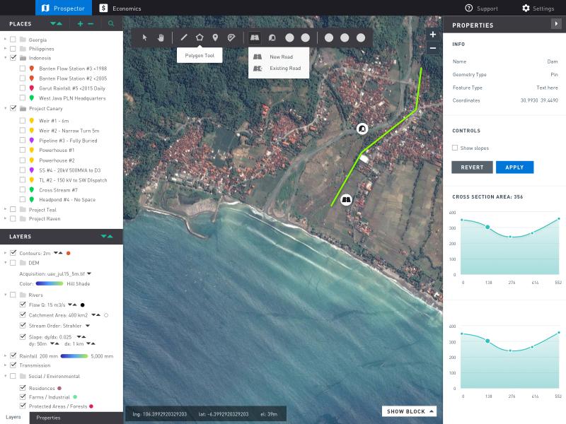 GUI for Web GIS Client sketch ui kit ui complex gui gis