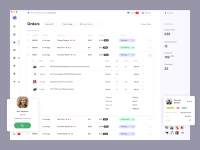 Order Management dashboard ui management uxdn erp software crm dashboard crm software crm portal product dashboad product design complex dashboard ecommerce ux order management orders backoffice erp crm ui