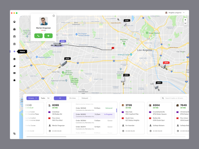 Track drivers dashboad erp uxdn crm product design delivery shipping curier track map dashboard complex desktop interface delivery app delivery status deliveries ux ui ecommerce
