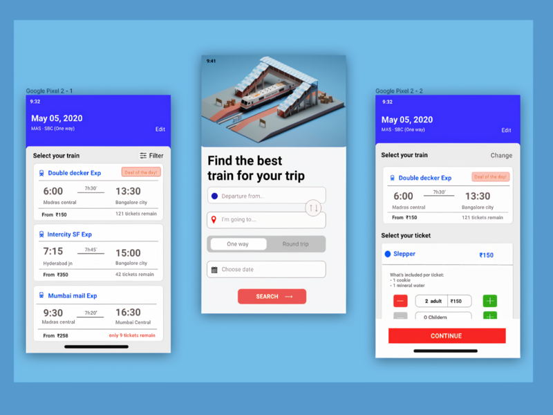 Cyanic Train Booking trip booking train booking train uiux concept ux userinterface user experience ui illustration design app