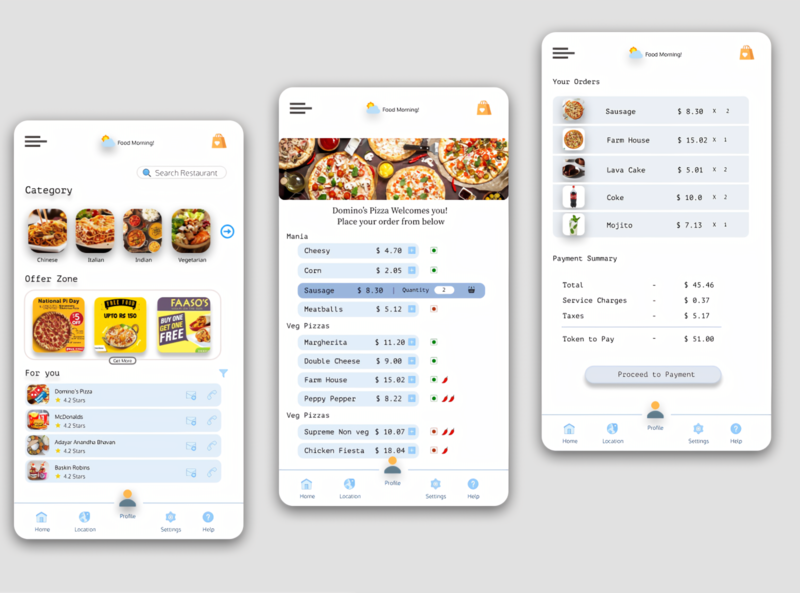 Hoary Food Stop figmadesign figma swiggy uber food delivery app food delivery uiux flat concept ux userinterface user experience ui illustration design app