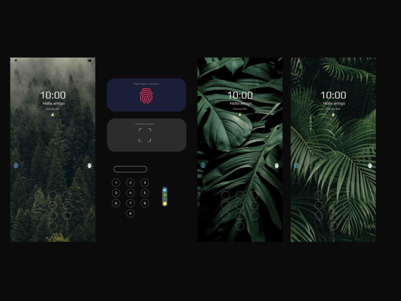 Flick Lock Screen lockscreen wallpaper screen apple phone android lock screen dark uiux concept ux userinterface user experience ui illustration design app