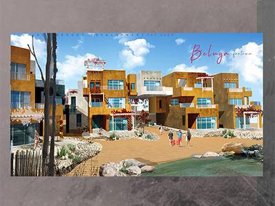 Beluga resort ( Chalet Shot) rendering post production architectural visualization