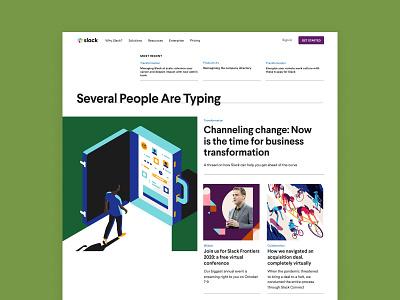Slack Blog Redesign web design art direction editorial design blog