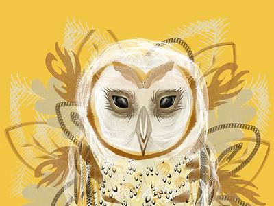 Iced Latte Owl icy drinks latte art latte blue illustration grapic design design branding birds