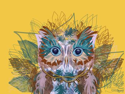 Sweet Americano Owl barista brew drinks coffee americano owl illustration grapic design design branding birds