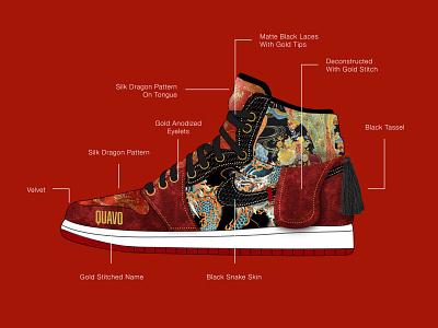 Migos AJ1s jumpman air jordan sneaker illustration sneakerhead sneaker design jordan custom sneakers sneaker art