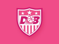 USA inspired Dribbble shield