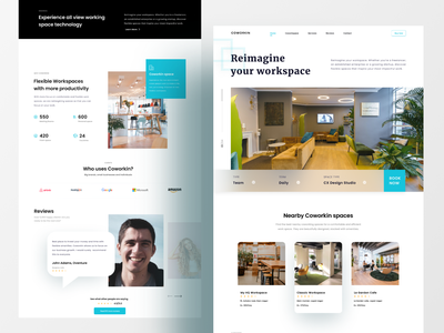 Co-working Space Homepage design ux daily ui uidesign ui figma real estate website real estate website design website ofspace co working space co working