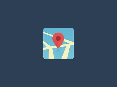 Flat Map Icon flat icon map pin