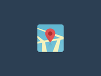 Flat Map Icon