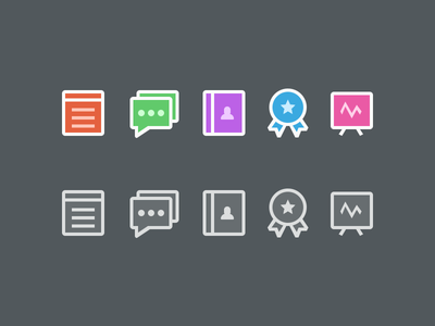 Colorful Icon Set icons set telerivet dashboard messages contacts services stats sticker mule