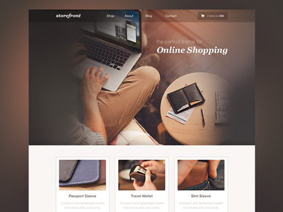 Storefront Theme & Template theme template web design shopping store shop icons website ui