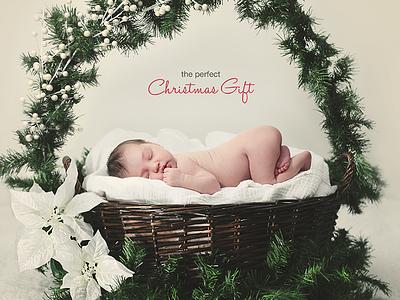 Christmas Gift christmas gift card holiday baby red print