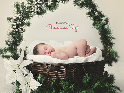 Christmas Gift christmas gift card holiday baby red print