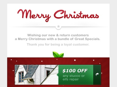 ES Christmas Specials christmas specials email template red green star