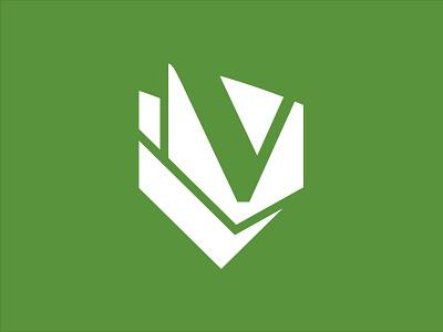 Vanguard Veneer Logomark identity logomark logotype vangaurd veneer green shield