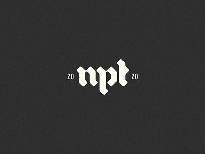 Neptune geometric minimal badge lockup neptune gothic calligraphy typography blackletter branding logotype logo
