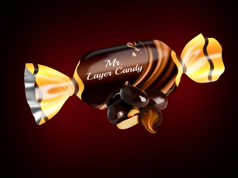 Sweet  Candy chocolate packaging packaging design chocolate packaging design branding logo design photoshop illustrator