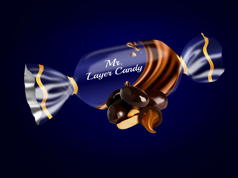 Sweet  Candy chocolate packaging design illustrator design photoshop packaging