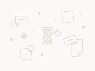 No Threads Yet state ux ui spool illustration productivity threads metalab app empty product