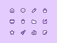 Lollipop Icons ux ui icon design icon iconography pitch presentation app metalab