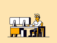 Personas office spot illustration characters manager work jobs sales personas business