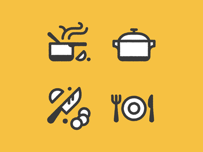 Pared Scraps illustration knife chef cook prep food vector icons pared