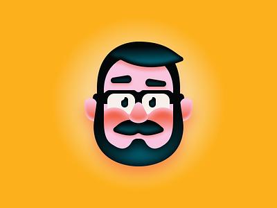 That's All, Folks! gradient figma illustration faces avatar cartoon vector