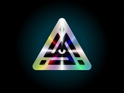 ONUS Reborn sticker holographic hologram game icon famicase illustration triangle eye logo branding