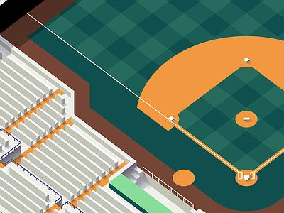 Build Your Dream Team isometric interactive espn mlb ballpark stadium baseball