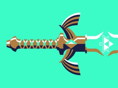 The Sword That Seals the Darkness triforce sword nintendo breath of the wild zelda legend