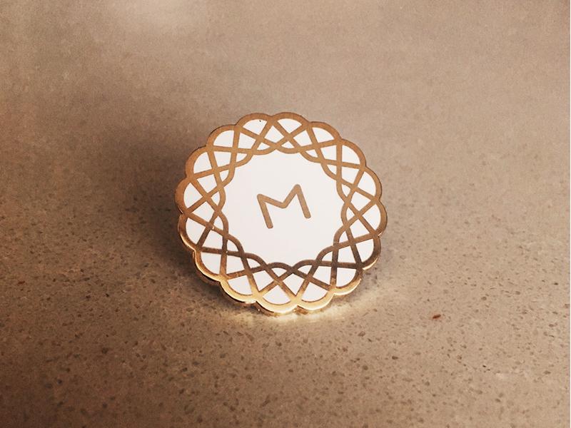MetaLab Enamel Pin company tech logo pin enamel metalab