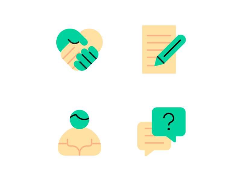 Style Test 💀 partnership form question research health spot icon illustration