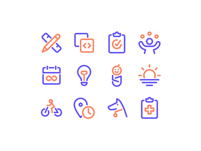 Jobs & Perks Icons principle icon job perks hiring benefits metalab remote health site ui motion career