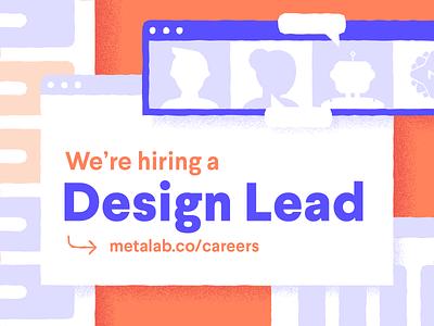 Design Lead Role remote construction paper texture grit job career metalab hiring role lead designer