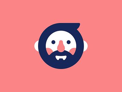 Well-Rounded beard face avatar vector illustration