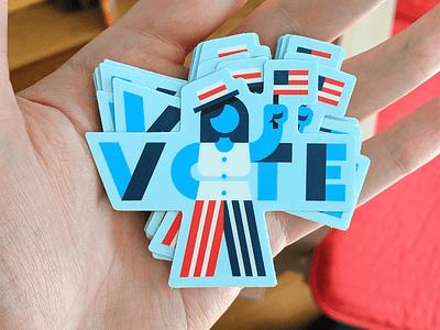 Vote Stickers sticker illustration usa type flag vote election democracy america
