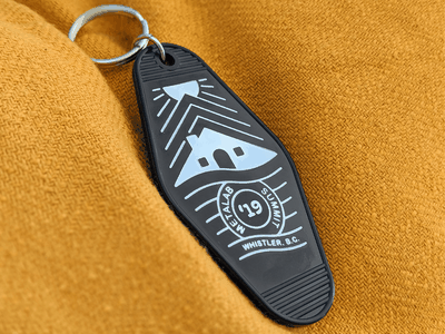 Summit Key Tag merch swag british columbia canada vancouver whistler cabin print tag key summit metalab