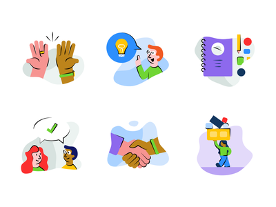 Hiring Skill Badges, Part 1 skill spot illustration job hr people illustration app hiring badge