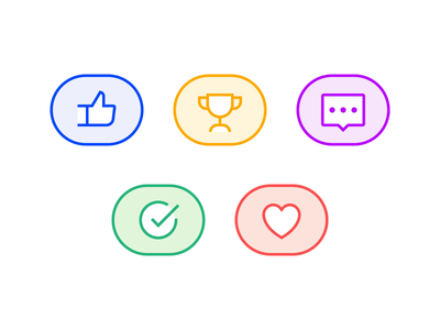 Thread Reactions app ux ui product messaging reaction icon