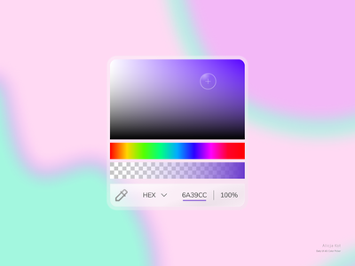Daily UI #60: Color Picker card ui pink icons opacity colors palette purple gradient dribbble popular usable user experience design uidesign uxuidesign uiuxdesign minimalist design simple clean interface frosted glass aurora ui glassmorphism day 60 dailyuichallenge dailyui